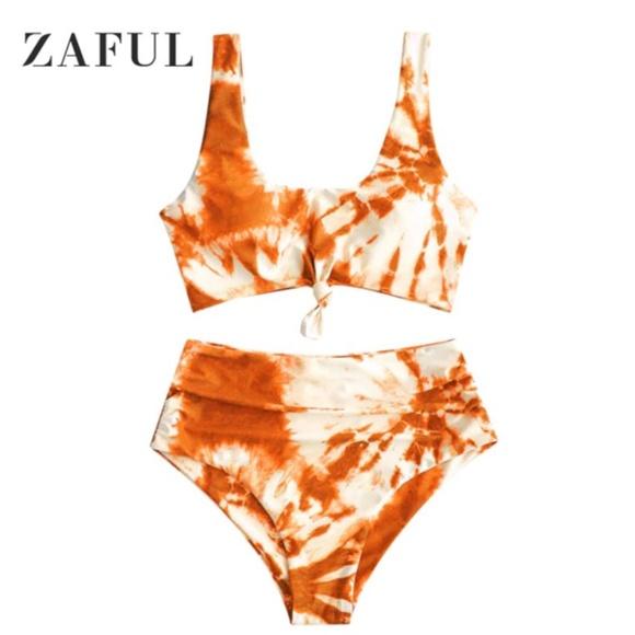 Orange tie dye bikini